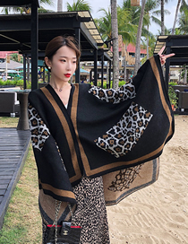 Fashion Rectangular Leopard Cashmere Cloak Shawl