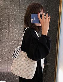 Fashion White Silk Scarf Shoulder Bag