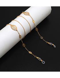Fashion Gold Metal Hollowed Out Leaves: Non-slip Glasses Chain