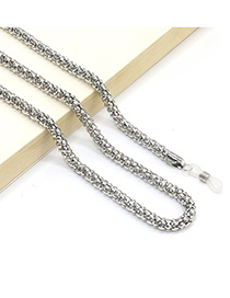 Fashion Silver Metal Non-slip Anti-slip Glasses Chain Bold 6.0mm
