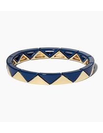 Fashion Royal Blue Zinc Alloy Paint Glaze Bracelet