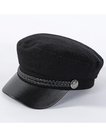 Fashion Black Woolen Cap