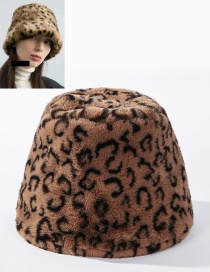 Fashion Camel Leopard Leopard Fur Light Board Fisherman Hat