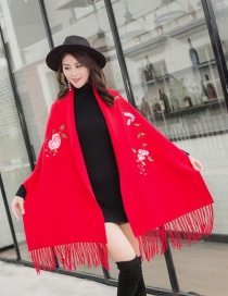 Fashion Red Cape Cloak With Sleeves
