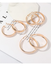Fashion Gold C-shaped Circle Earrings