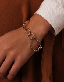 Fashion Gold Metal Chain Irregular Bracelet