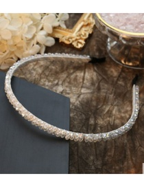 Fashion Beige Fine Version Crystal Winding Headband