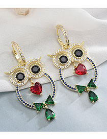 Fashion Gold Cartoon Owl Earrings