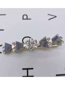 Fashion Small Triangle Purple Resin-studded Hair Clip