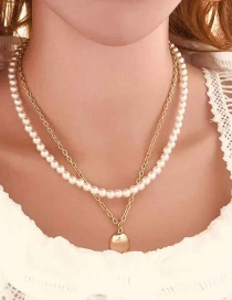 Fashion Gold Imitation Pearl Shell Necklace