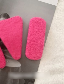Fashion Rectangular-rose Red Cashmere-like Geometric Bb Clip