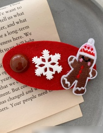 Fashion Red Bottom Biscuit Man Felt Elk Snowflake Christmas Hair Clip