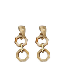 Fashion Creamy-white Acrylic Geometric Earrings