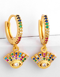 Fashion Eye Victory Hand Inlaid Zircon Earrings
