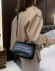 Fashion Black Crocodile Shoulder Crossbody Bag