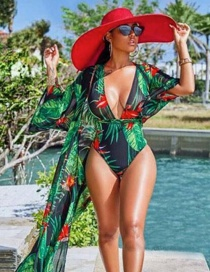 Fashion Shave Black Increase The Draped One-piece Swimsuit