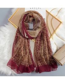 Fashion Red Wine Snake Scarf Shawl