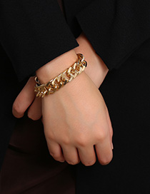 Fashion Gold Chain Geometry Punk Bracelet