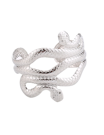 Fashion Silver Metal Serpentine Open Bracelet