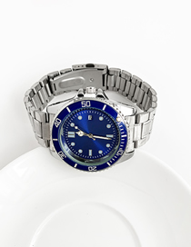 Fashion Blue Alloy Electronic Element Chain Watch