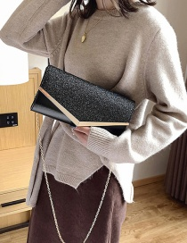 Fashion Black Chain Shoulder Slung Clutch