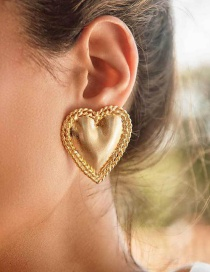 Fashion Gold Gold-plated Love Earrings