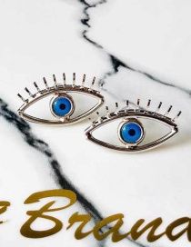 Fashion Silver Eye Earrings