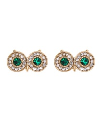 Fashion Diamond-studded Gold Owl Earrings
