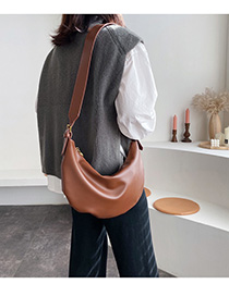 Fashion Brown Belt Buckle Crossbody Shoulder Bag