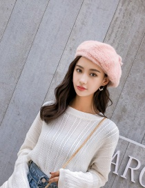 Fashion Pink Water Velvet Beret