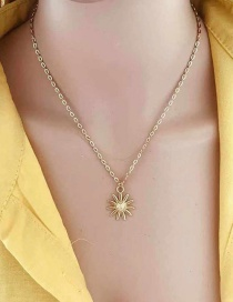 Fashion Color Sun Flower Necklace