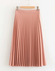 Fashion Pink Pleated A-line Skirt
