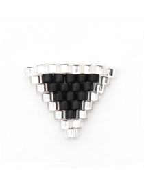 Fashion Black Triangle Geometric Rice Beads Weaving Accessories