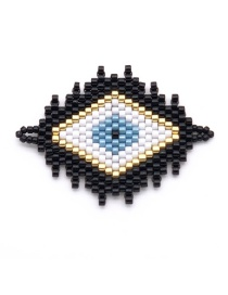 Fashion Black Eye Bead Woven Accessories