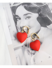 Fashion Red Love Earrings