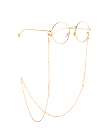 Gold Water Droplet Shell Glasses Chain