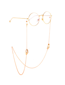 Gold Conch Glasses Chain