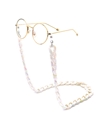 White Acrylic Leopard Fine Chain Glasses Chain