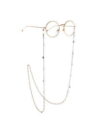 Silver Chain Pearl Shell Glasses Chain