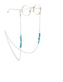 Silver Chain Natural Turquoise Beads Chain