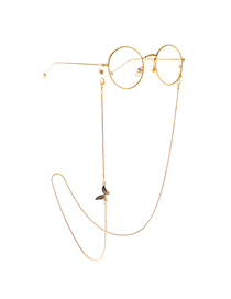 Gold 1.2mm Rhinestone Butterfly Glasses Chain
