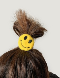 Smile Size Is About 5.5cm Wool Felt Hair Ring  Rubber Band