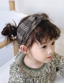 Cross Fabric Circumference Is About 42cm Plaid Contrast Hair Band  Cloth
