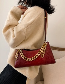 Fashion Red Chain Shoulder Diagonal Package