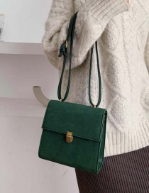 Fashion Green Lock Single Shoulder Messenger Bag