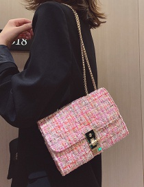 Fashion No. Woolen Chain Shoulder Messenger Bag