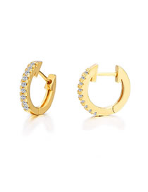 Fashion Golden Inlaid Rhinestone Earrings