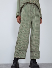 Fashion Green Printed Parents' Pants