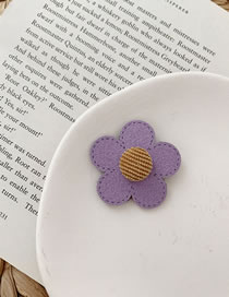 Fashion Trumpet-purple Flower Hairpin