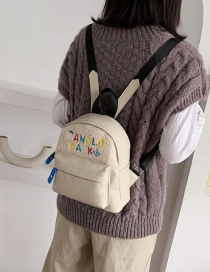 Fashion White Letter Embroidered Plush Stitched Children's Backpack